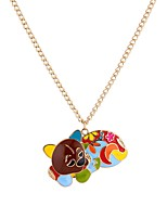 cheap -Men's Cool Dog Pendant Necklace  -  Animals Gothic Rainbow 65cm Necklace For Ceremony Club