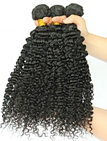 cheap -Brazilian Hair Curly Human Hair Weaves 50g x 3 Hot Sale Extention All Christmas Gifts Christmas Wedding Party Special Occasion Halloween