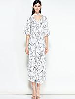 cheap -MARY YAN&YU Women's Cute Street chic Boho A Line Dress - Geometric
