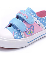 cheap -Girls' Shoes Canvas Spring Comfort Sneakers for Casual Dark Blue Pink Light Blue