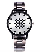 cheap -Men's Women's Quartz Wrist Watch Casual Watch Alloy Band Fashion Silver
