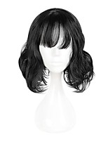 cheap -Synthetic Wig Wavy Bob Haircut / Short Bob Synthetic Hair Natural Hairline Black Wig Women's Short Cosplay Wig / Natural Wigs / Party Wig
