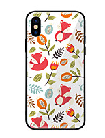 abordables -Funda Para Apple iPhone X iPhone 8 Diseños Funda Trasera Flor Animal Dura Vidrio Templado para iPhone X iPhone 8 Plus iPhone 8 iPhone 7