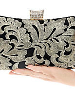cheap -Women's Bags Polyester Evening Bag Buttons for Event / Party Gold / Black
