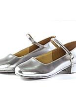 Недорогие -Жен. Обувь для модерна Искусственная кожа На каблуках В помещении Каблуки на заказ Персонализируемая Танцевальная обувь Черный /