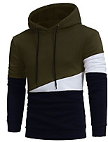 cheap -Men's Basic Hoodie - Color Block, Print
