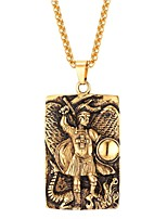 preiswerte -Herrn Damen Edelstahl Anhängerketten - Modisch Geometrische Form Modische Halsketten Für Alltag