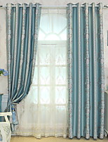 preiswerte -Vorhänge drapiert Wohnzimmer Geometrisch Baumwolle / Polyester Bedruckt