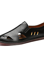 Недорогие -Муж. обувь Дерматин Весна Лето Удобная обувь Мокасины и Свитер Животные принты для Повседневные Белый Черный Серый