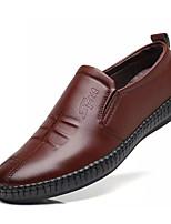 abordables -Homme Chaussures PU de microfibre synthétique Printemps Automne Confort Mocassins et Chaussons+D6148 pour Bureau et carrière Noir Marron