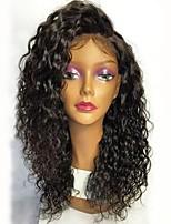 abordables -Non Traités Perruque Cheveux Brésiliens Bouclé Coupe Dégradée 130% Densité Avec des cheveux de bébé Ligne de Cheveux Naturelle Noir Court