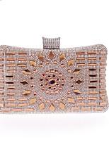 preiswerte -Damen Taschen PU Polyester Abendtasche Kristall Verzierung für Hochzeit Veranstaltung / Fest Ganzjährig Blau Champagner Silber