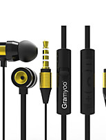 cheap -X16 In Ear Audio IN Headphones Dynamic Aluminum Alloy Sport & Fitness Earphone with Volume Control with Microphone Headset