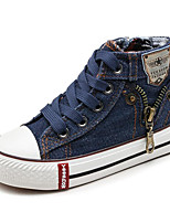 cheap -Girls' Boys' Shoes Canvas Spring Fall Comfort Sneakers for Casual Dark Blue Dark Red Light Blue