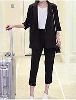 cheap -Women's Basic Blazer - Solid Colored, Print Pant
