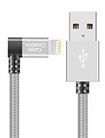 Недорогие -Подсветка Адаптер USB-кабеля Быстрая зарядка Высокая скорость Кабель Назначение iPhone 120cm Нейлон