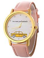 baratos -Mulheres Quartzo Relógio de Moda Chinês Relógio Casual PU Banda Colorido Fashion Preta Branco Azul Marrom Rosa Rose