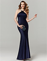 cheap -Sheath / Column Y-Neck Floor Length Satin Prom / Formal Evening Dress with Bandage by TS Couture®