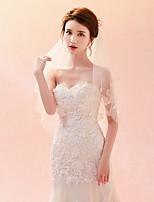 baratos -Uma Camada Clássico Chique & Moderno Véus de Noiva Véu Capela Com Bordado Tule