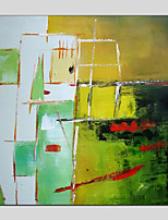 cheap -Oil Painting Hand Painted - Abstract Modern Canvas