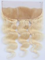 Недорогие -Guanyuwigs Жен. Волнистый 4X13 Закрытие Бразильские волосы Швейцарское кружево Натуральные волосы Бесплатный Часть Средняя часть 3 Часть