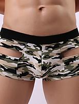 cheap -Men's Briefs Underwear Geometric Mid Rise