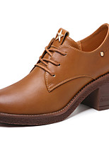abordables -Femme Chaussures PU de microfibre synthétique Printemps Automne Escarpin Basique Gladiateur Oxfords Talon Bottier pour Soirée & Evénement