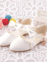 cheap -Girls' Shoes PU Summer Flower Girl Shoes / Comfort Flats for Casual White / Pink