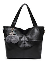 cheap -Women's Bags PU Tote Zipper for Casual All Seasons Blue Black Red Gray