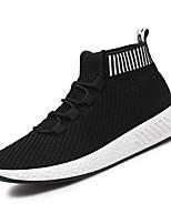 baratos -Homens sapatos Tule Primavera / Outono Conforto Tênis Cinzento / Branco / Preto / Preto / Vermelho