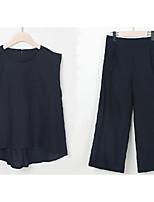 abordables -Mujer Camisa - Un Color Pantalón