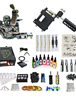 cheap -Tattoo Machine Starter Kit Tattoo Machines with 7 x 15 ml tattoo inks, Variable Speeds, Professional LCD power supply Case Not Included