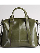 cheap -Women's Bags Cowhide Shoulder Bag Buttons for Casual Winter Military Green Light Gray Brown