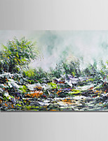 cheap -Oil Painting Hand Painted - Abstract Landscape Modern Canvas