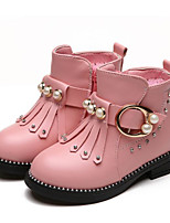 cheap -Girls' Shoes Leatherette Winter Bootie Boots Booties/Ankle Boots for Casual Black Red Pink