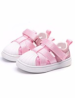 cheap -Girls' Boys' Shoes PU Summer Comfort Sneakers for Casual Black Gray Pink