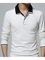 cheap -Men's Chic & Modern Polo - Solid Colored Shirt Collar