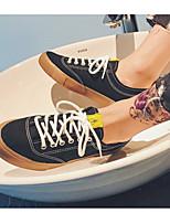 Недорогие -Муж. обувь Полотно Весна / Осень Удобная обувь / Вулканизованная обувь Кеды Белый / Черный