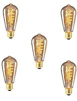 abordables -5pcs 40W E26/E27 ST64 Blanc Chaud 2200-2700k K Rétro Intensité Réglable Décorative Ampoule incandescente Edison Vintage 220-240V