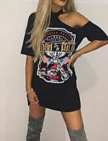 preiswerte -Damen Geometrisch - Aktiv Punk & Gothic T-shirt Druck