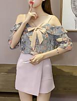 Недорогие -Жен. Блуза Очаровательный Цветочный принт