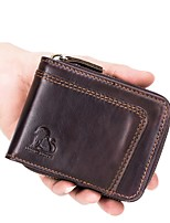 cheap -Men's Bags Leather Coin Purse Zipper for Office & Career Black / Coffee
