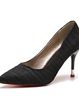 Недорогие -Жен. Обувь Резина Весна Удобная обувь Обувь на каблуках На шпильке Заостренный носок Черный / Серый / Миндальный