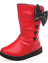 cheap -Girls' Shoes PU Fall Winter Snow Boots Boots Mid-Calf Boots for Casual White Black Red