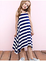 cheap -Girls' Striped Sleeveless Dress