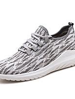 Недорогие -Муж. обувь Ткань Весна / Осень Удобная обувь Кеды Черный / Серый / Синий