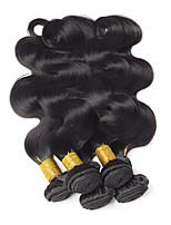 cheap -Brazilian Hair Wavy One Pack Solution 4 Bundles Human Hair Weaves Extention / Hot Sale Natural Black Human Hair Extensions All