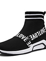 cheap -Men's Shoes Knit Spring Fall Comfort Sneakers for Casual Office & Career Black Red