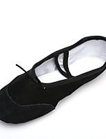 abordables -Homme Chaussures de Ballet Toile Semelle Pleine / Basket Intérieur Fantaisie Talon Plat Personnalisables Chaussures de danse Noir