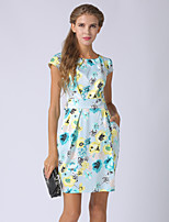 cheap -SHE IN SUN Women's Basic Street chic A Line Dress - Floral Print